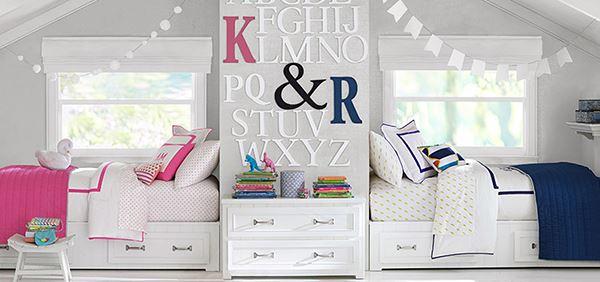 İki kardeş için genç kız odası
