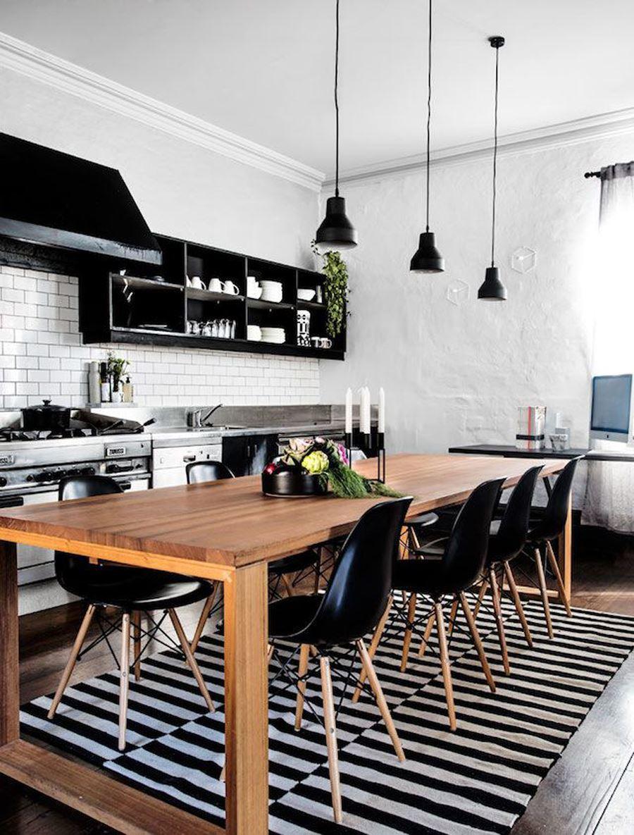 Modern tasar ml k rm z renkli mutfak dekorasyonu modeli - Siyah Beyaz Kilimli Mutfak Siyah Beyaz Mutfak Dolabi Modelleri