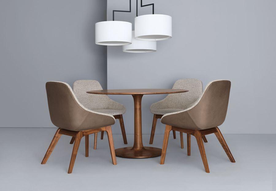 Birbirinden lgin tasar mlara sahip yuvarlak masa for Moderne zeitraum
