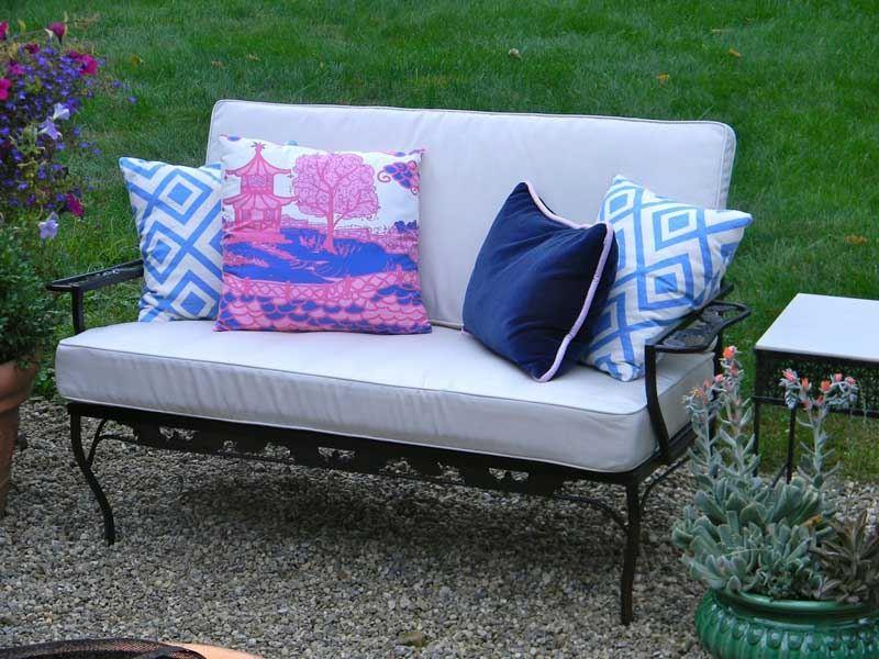 Ferforje kanepe bahçe
