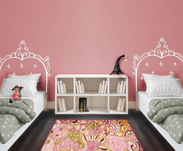 Yatak başlığı duvar kağıdı Çocuk odası