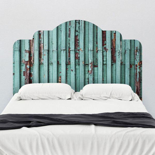 Yatak başlığı duvar kağıdı Ahşap turkuaz