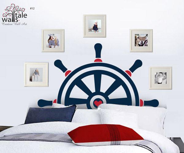 Yatak başlığı duvar kağıdı Gemi dümeni