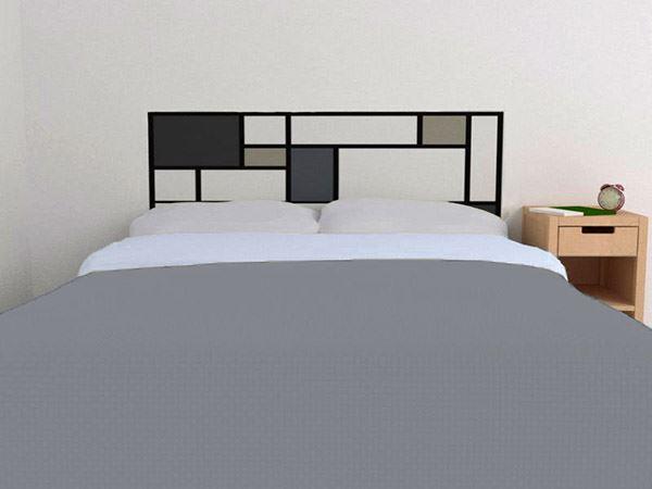 Yatak başlığı duvar kağıdı Siyah kareler