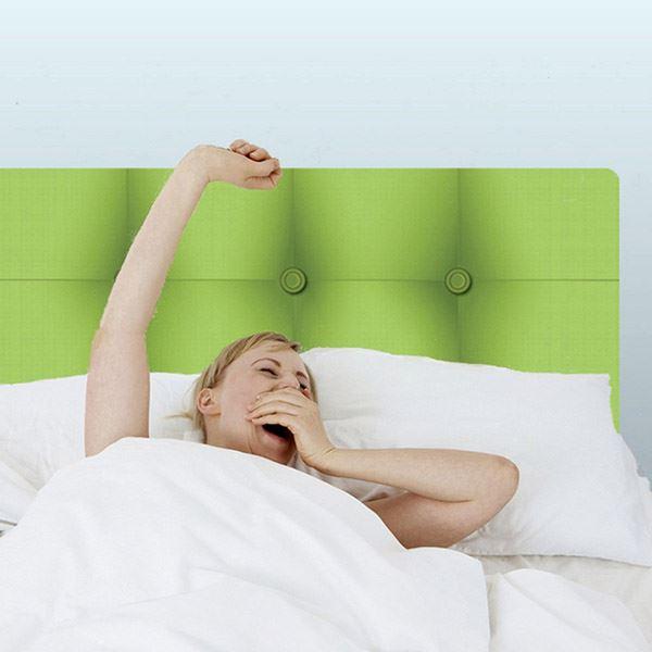 Yatak başlığı duvar kağıdı Yeşil
