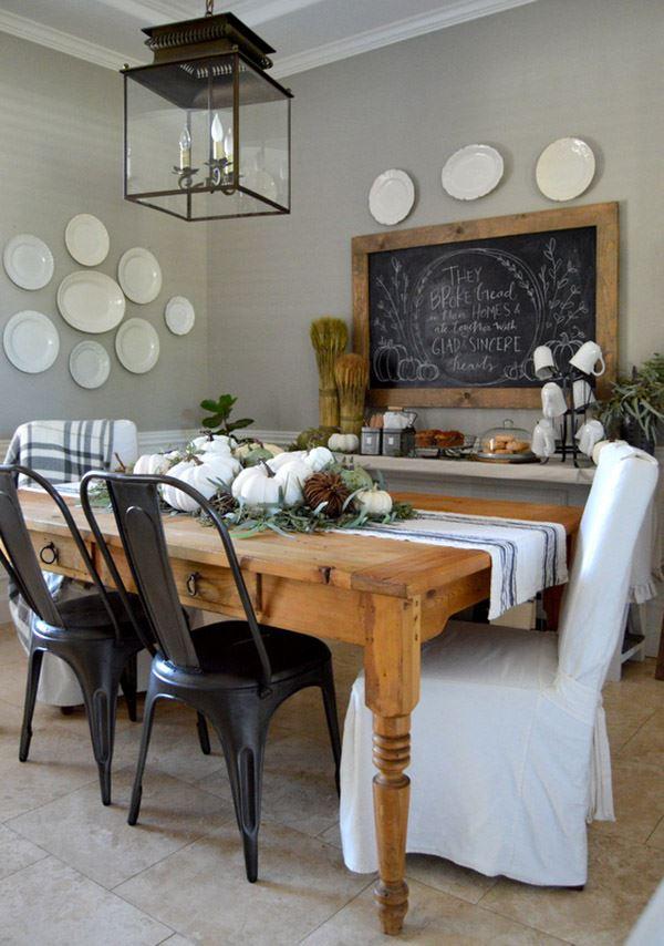 Otantik yemek odası dekorasyonu
