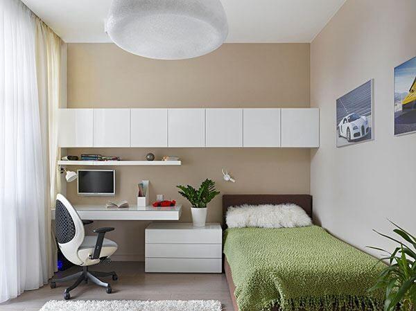 Küçük Dar Odalar için Kullanışlı Genç Odası Dekorasyonu