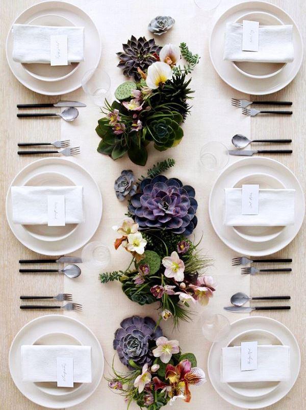 Altı 6 kişilik misafir için yemek masası dizaynı