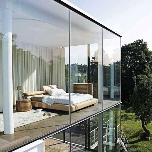 Cam duvarlı ilginç yatak odaları