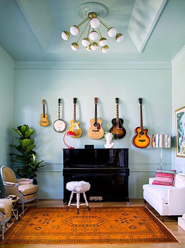 Duvar Gitar dekorasyonu