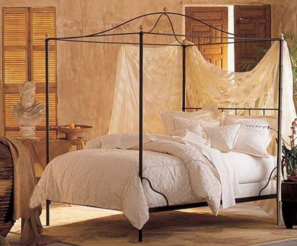 Ferforje tüllü yatak