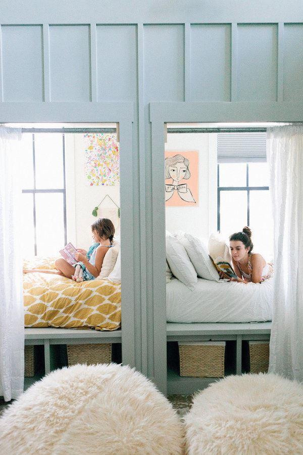 Genç kız ve çocuk odası bir arada kardeş odası