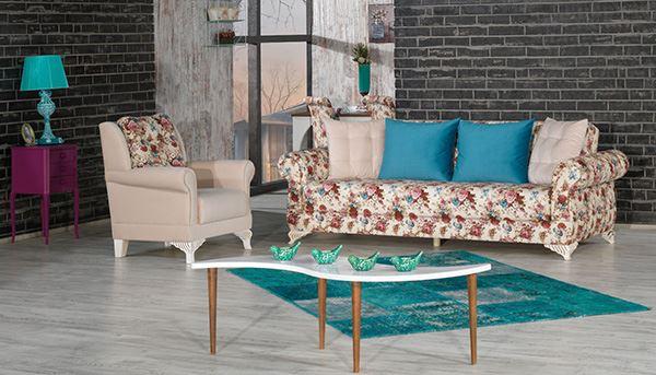 Kilim mobilya edremit çiçek desenli koltuk takımı