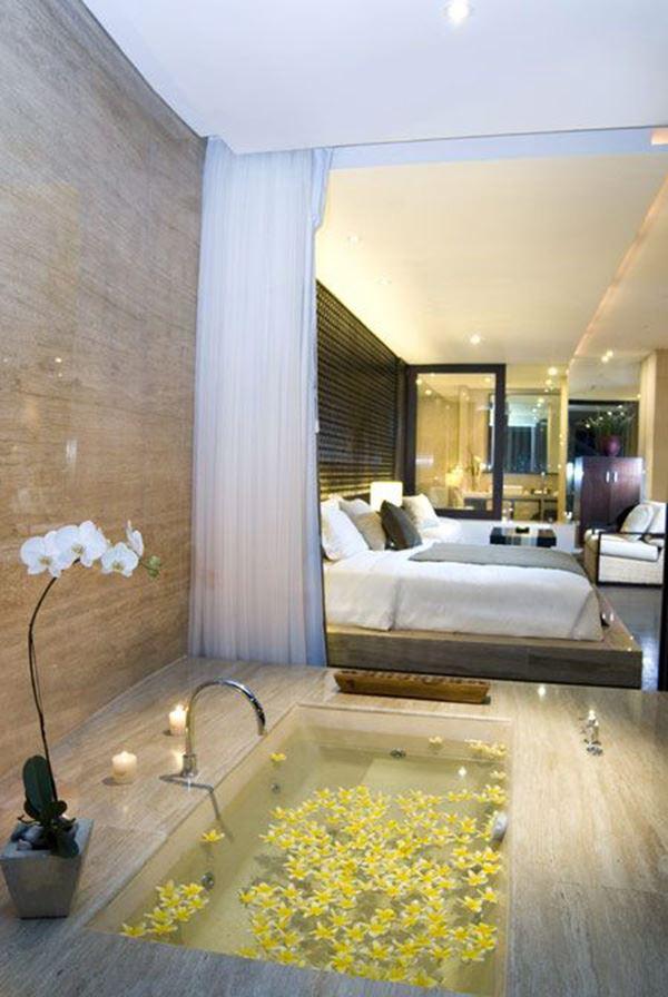 Lüks banyolu ilginç yatak odaları