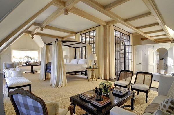 Lüks modern ilginç yatak odası