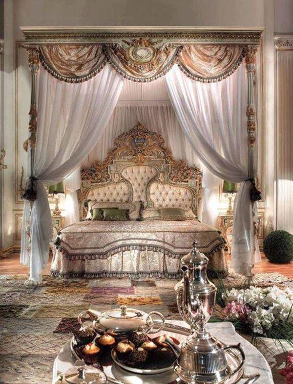 Lüks otantik ilginç yatak odaları