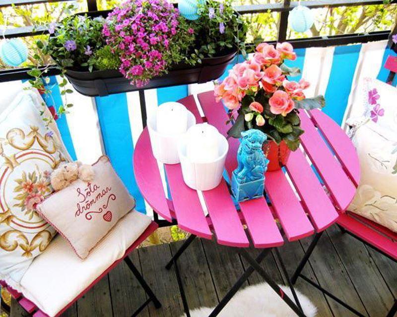 Küçük balkon dekorasyonu fikirleri ile balkonlar rengarenk   dekoloji
