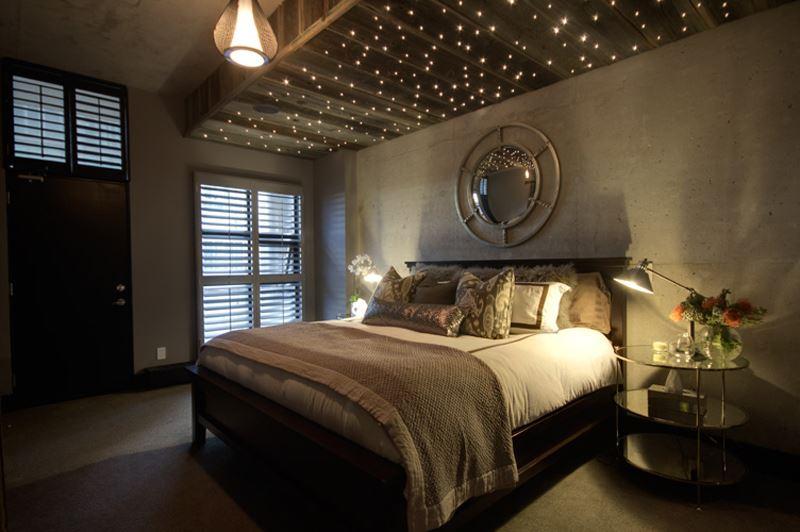 Romantik yatak odas dekorasyon rnekleri dekoloji for Sternenhimmel schlafzimmer