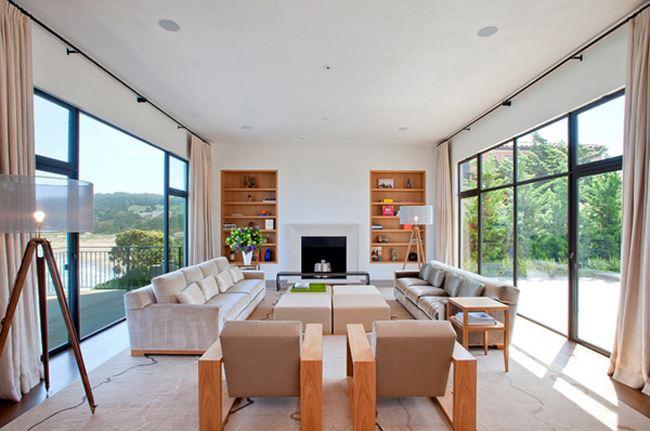 Uzun oturma odası dekorasyonu Aile