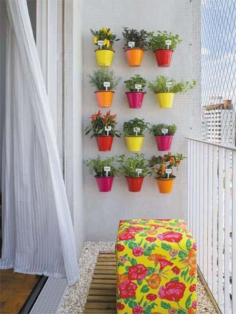 Kucuk Balkon Dekorasyonu Fikirleri Ile Balkonlar Rengarenk