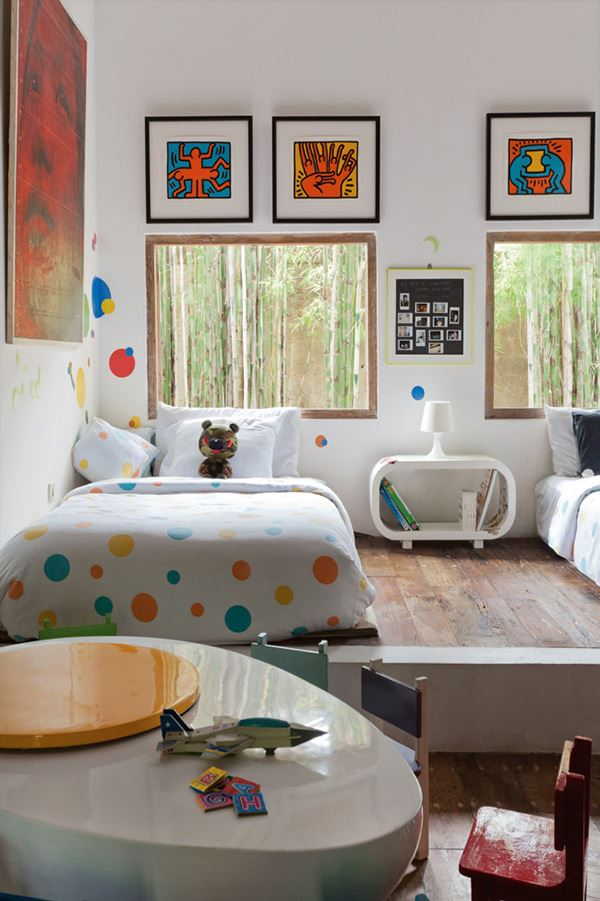 Modern children's room for two brothers