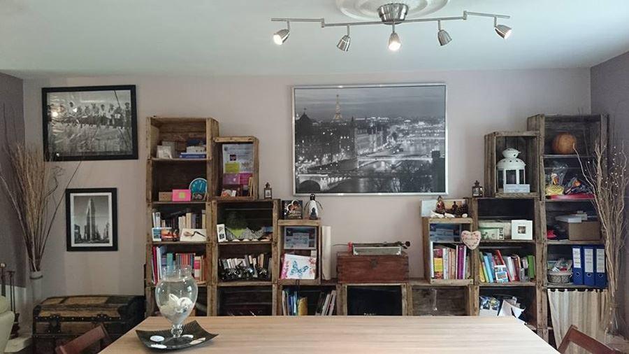 Fruit case decorative bookshelf