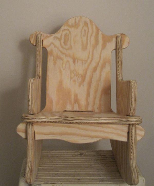 Çocukları için masif sallanır sandalye