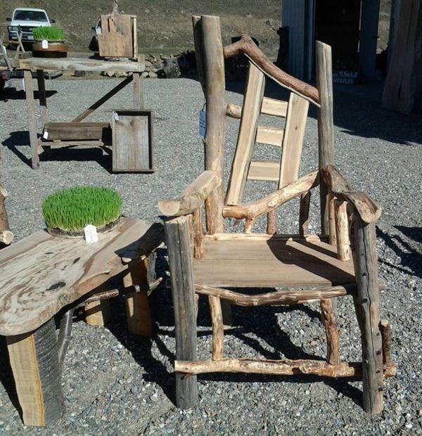Rustik ahşap sandalye
