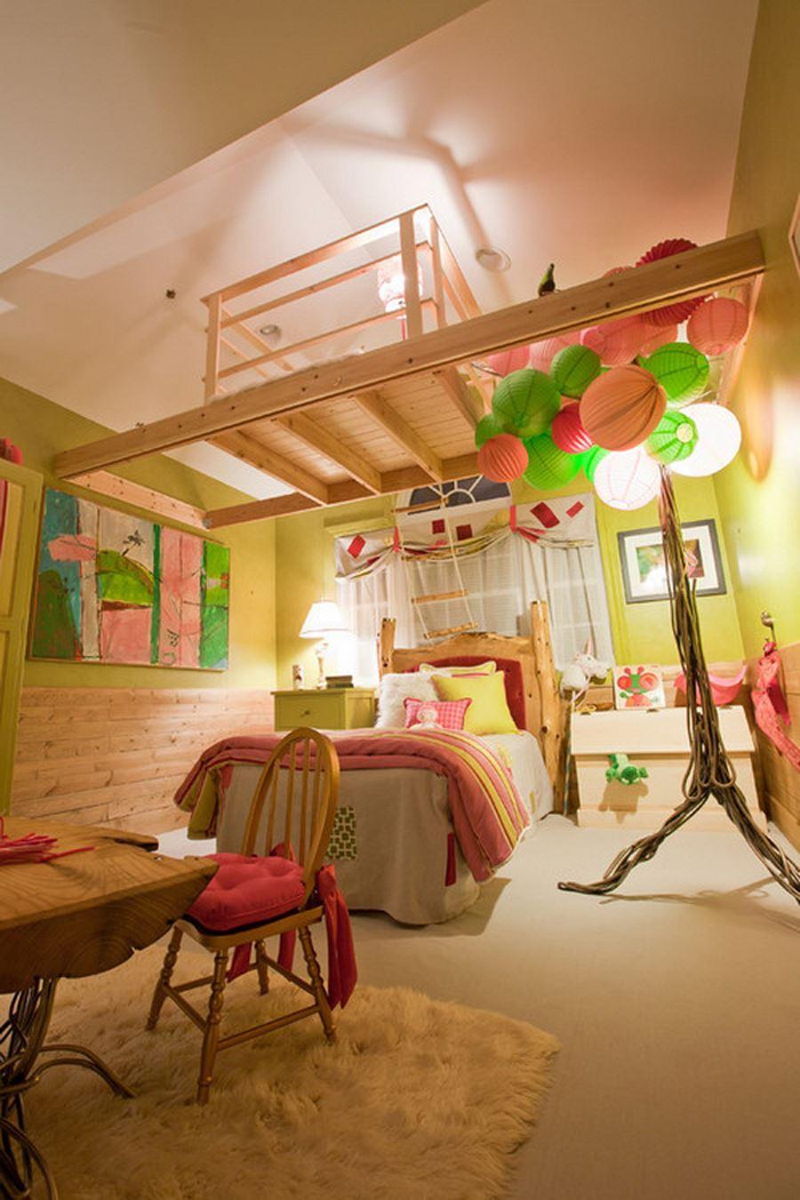 Ağaç Ev Genç Kız Odası dekorasyon fikirleri