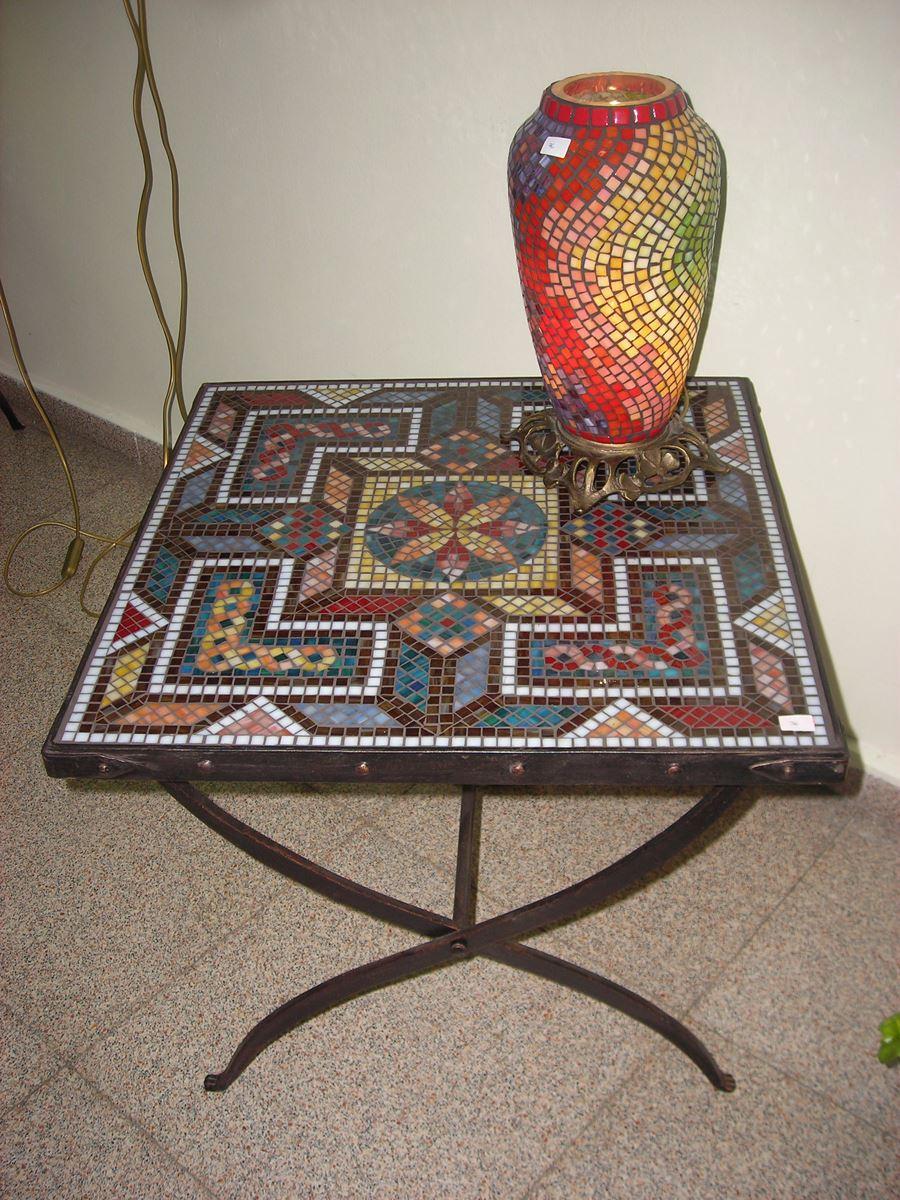 Antik mozaik sehpa modelleri