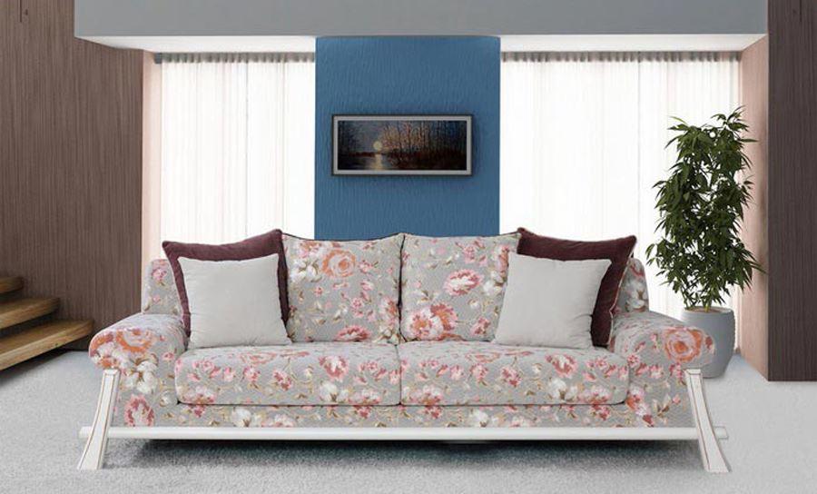 Comfy Home Smart Çiçek Desenli Kanepe