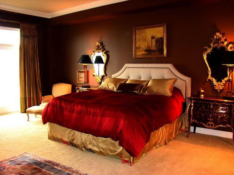 Kırmızı yatak odası dekorasyon örnekleri
