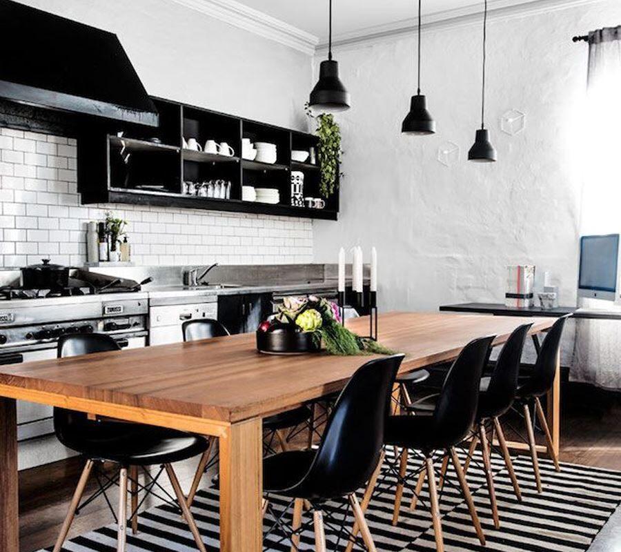 Son Zamanların Modası Siyah Beyaz Mutfak Dekorasyonu