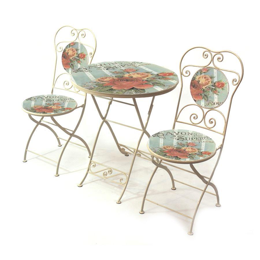 Vish Design Ferforje 60 cm Küçük Mutfak Masası