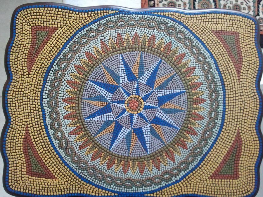 Yıldız desenli mozaik sehpa modelleri
