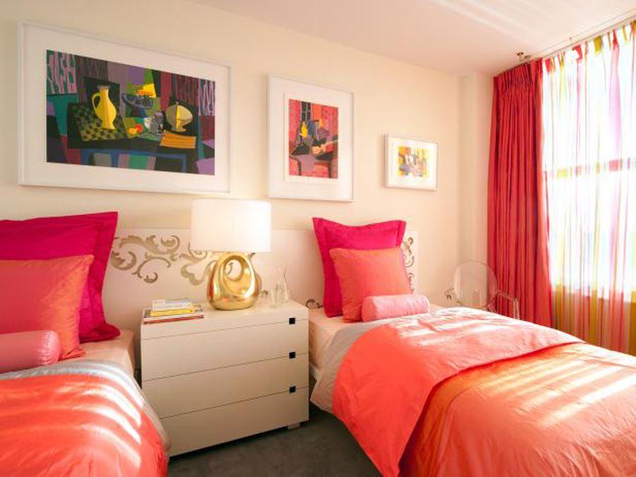 iki kardeş genç odası dekorasyon fikirleri