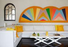 Rengarenk ev dekorasyonu duvar süsleme