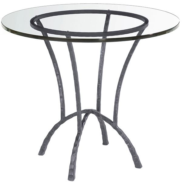 Glass Rounds Wrought Iron Table