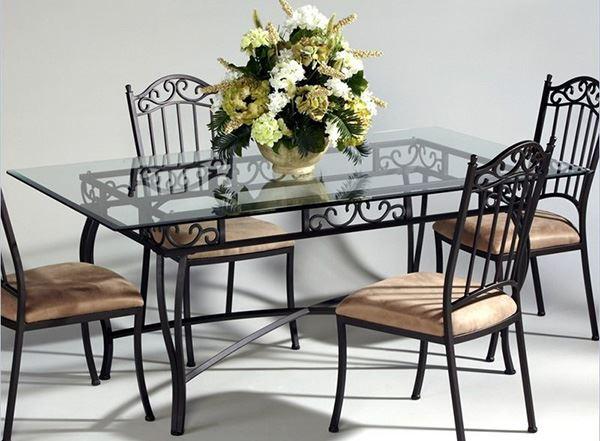 Modern Rectangular Wrought Iron Table