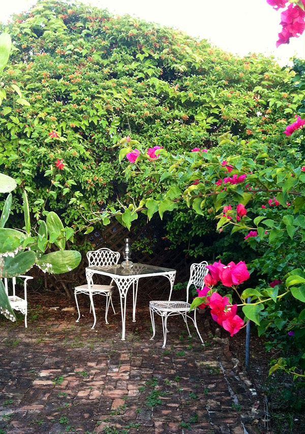 Vintage Wrought Iron Garden Table