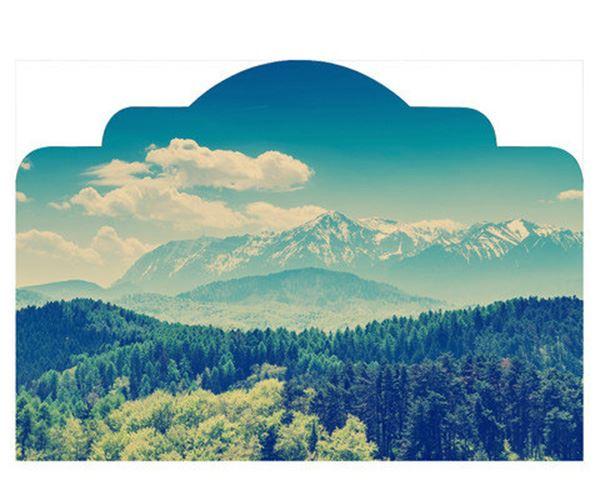 Yatak başlığı duvar kağıdı Doğal orman