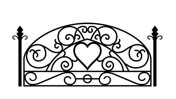Yatak başlığı duvar kağıdı Ferforje