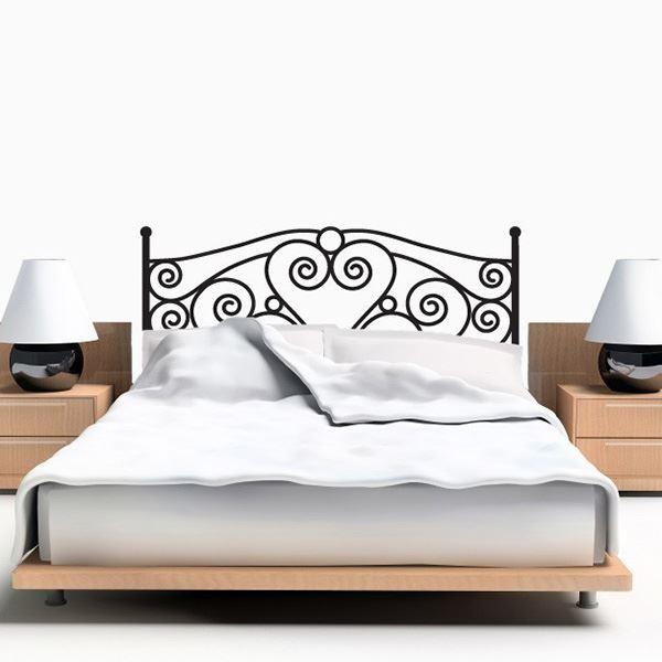 Yatak başlığı duvar kağıdı Kalpli ferforje