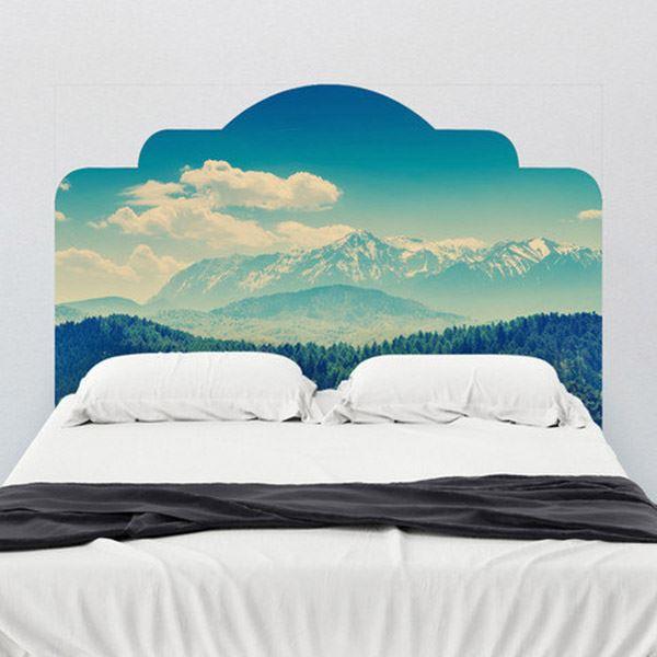 Yatak başlığı duvar kağıdı Karlı dağlar