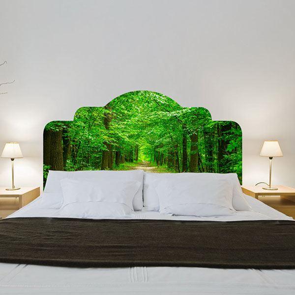 Yatak başlığı duvar kağıdı Orman yolu