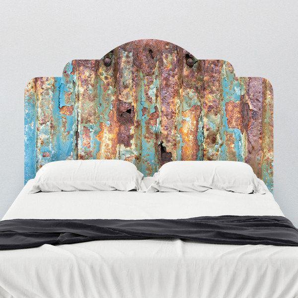 Yatak başlığı duvar kağıdı Paslı kapı