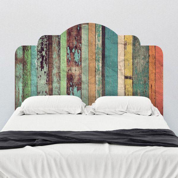 Yatak başlığı duvar kağıdı Renkli palet