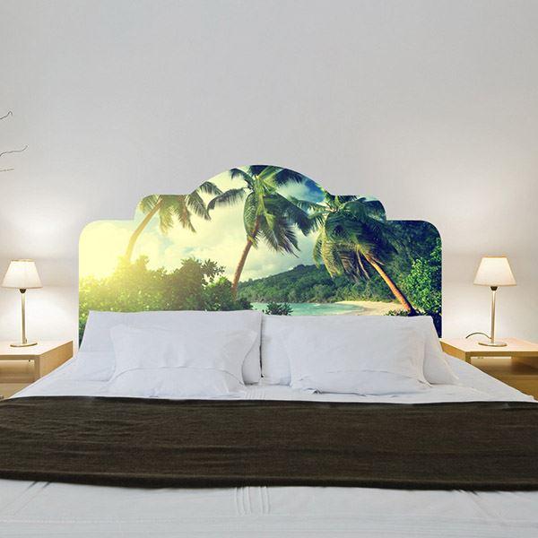 Yatak başlığı duvar kağıdı Tropik ada