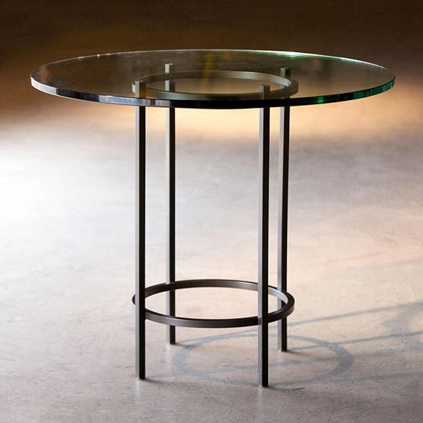 Round Wrought Iron Glass Table