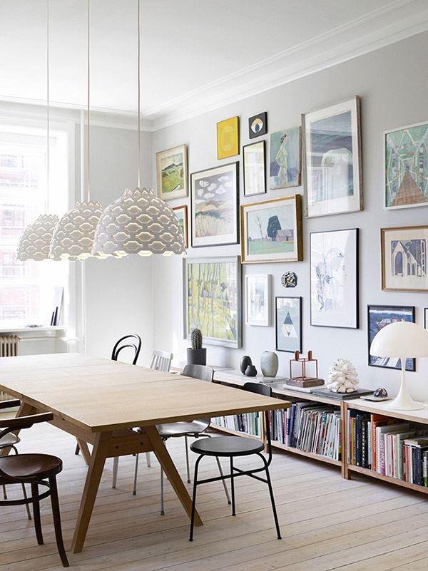 Modern yemek odası dekorasyonu duvar galerisi